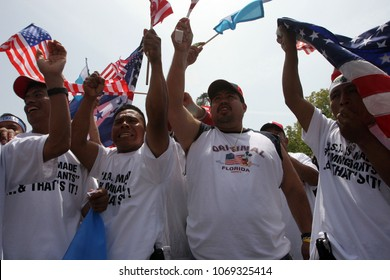 "May 01, 2006; Los Angeles, CA, USA;  During ""A Day Without an Immigrant"", more than 500,000 people marched down Wilshire to protest a proposed federal crackdown on illegal immigration."