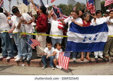 """May 01, 2006; Los Angeles, CA, USA;  During """"A Day Without an Immigrant"""", more than 500,000 people marched down Wilshire to protest a proposed federal crackdown on illegal immigration."""