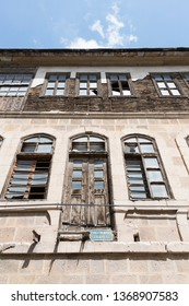 MAY 01,2015 BAYBURT TURKEY.Armenian massacre happened on this Unutulmaz Street against the Turkish people.Many of them slaughtered in these buildings in year of 1915.