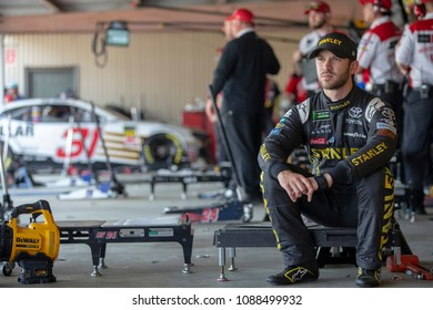 May 04, 2018 - Dover, Delaware, USA: Daniel Suarez (19) gets ready to practice for the AAA 400 Drive for Autism at Dover International Speedway in Dover, Delaware.