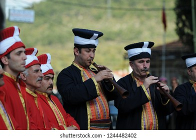 MAY 05,2009 BURSA TURKEY.The Ottoman Military Band, Mehter, still plays on special occasions in Turkey as the Mehter Troop, which was part of the Turkish Armed Forces.