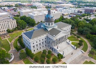 May 07, 2020 - Columbia, South Carolina, USA: The exterior of the South Carolina State House in Columbia, South Carolina.