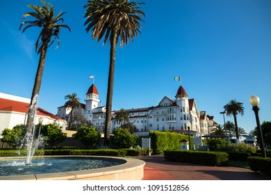 "May 09. 2018. Victorian Historic Hotel del Coronado, San Diego, California, USA. In the Hotel was Filmed Famous Comedy ""Some Like it Hot"", which starred Marilyn Monroe."