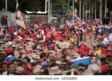 May 1, 2017. Adherents to President Nicolás Maduro are concentrated in the Bolivar Avenue of Caracas.