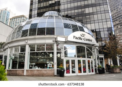 May 10 2017-Pacific Centre Mall Entrance at Downtown Vancouver,BC Canada