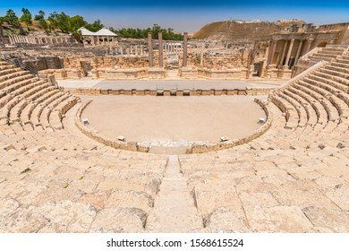 May 11, 2017. Roman theater at Beit She'an also Scythopolis in the Jordan Valley, Northern District, Israel.