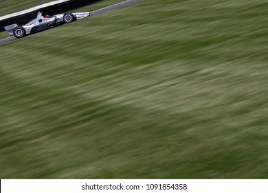 May 11, 2018 - Indianapolis, Indiana, USA: HELIO CASTRONEVES (3) brings his car through the turns during practice for for the IndyCar Grand Prix at Indianapolis Motor Speedway
