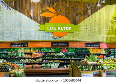 May 11, 2018 Los Altos / CA/ USA - Whole Foods vegetables display at a store in south San Francisco bay area