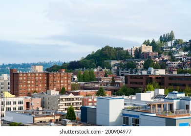 MAY 11 - SEATTLE: A view of the Queen Anne neighborhood in Seattle, Washington seen on May 11, 2014.