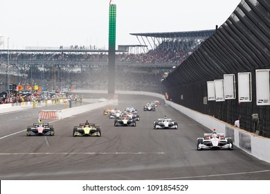 May 12, 2018 - Indianapolis, Indiana, USA: WILL POWER (12) of Australia battles for position during the IndyCar Grand Prix at Indianapolis Motor Speedway Road Course in Indianapolis, Indiana.