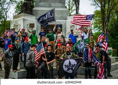 May 13, 2017 Boston Free Speech Rally Crowd