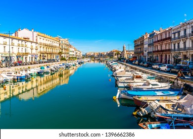 May 13, 2019: A sunny day in Sète in Occitania, France