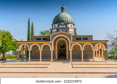May 14, 2017. Church Of The Mount Of Beatitudes, Sea Of Galilee, Israel.