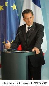MAY 16, 2007 - BERLIN: French President Nicolas Sarkozy at the first offical visit  in Germany, Chanclery, Berlin.