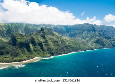May 17, 2013 - Kauai, Hawaii, United States:  The oldest and northernmost island in the Hawaiian chain is draped in emerald valleys, sharp mountain spires and jagged cliffs, aged by time.