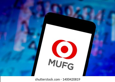 May 17, 2019, Brazil. In this photo illustration the Mitsubishi UFJ Financial Group (MUFG) logo is displayed on a smartphone.