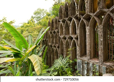 May 18, 2014 Xilitla, Mexico: Las Pozas also known as Edward James Gardens as well, with concrete structures blending in to vegetation in the most Northern jungle of the country
