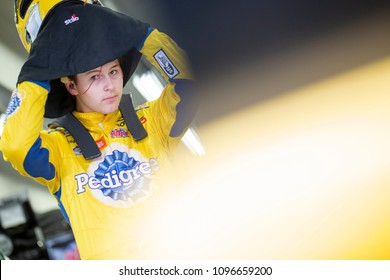 May 18, 2018 - Concord, North Carolina, USA: Todd Gilliland (4) gets ready to practice for the North Carolina Education Lottery 200 at Charlotte Motor Speedway in Concord, North Carolina.