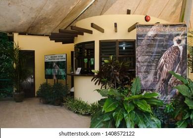 May 18, 2019-Davao Phiippines : Philippine Eagle center located in Davao Philippines. Tourist visits this place to view different species of the Philippine Eagle, and other animals.