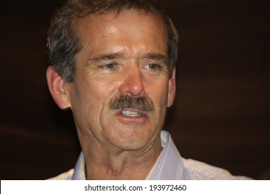 MAY 19, 2014 - BERLIN: Canadian astronaut Chris Hadfield after a book presentation in the Kulturkaufhaus Dussmann, Berlin.