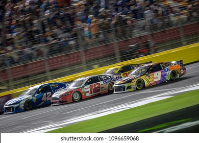 May 19, 2018 - Concord, North Carolina, USA: Chase Elliott (9) races down the front stretch for the Monster Energy All-Star Race at Charlotte Motor Speedway in Concord, North Carolina.