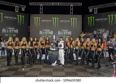 May 19, 2018 - Concord, North Carolina, USA: May 19, 2018 - Concord, North Carolina, USA: Kevin Harvick (4) wins the Monster Energy All-Star Race at Charlotte Motor Speedway in Concord, North Carolina