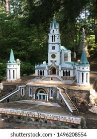 May 20, 2018. Ave Maria Grotto, Alabama, USA. Replica of Lourdes Church in Lourdes, France. One of many beautiful miniature reproductions constructed by Brother Joseph Zoettl, a Benedictine monk.
