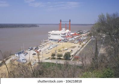 MAY 2004 - Riverboat gambling boat docked in Vicksburg, MS