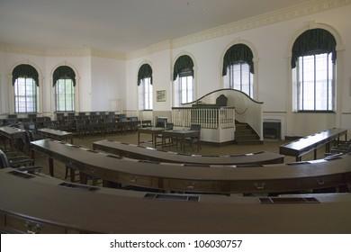 MAY 2007 - Interior view of Congress Hall, U.S. House of Representatives, Independence Hall, Philadelphia, Pennsylvania
