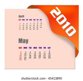 May of 2010 Calendar