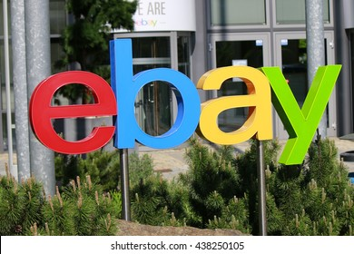 "MAY 2016 - BERLIN: the logo of the brand ""EBay""."