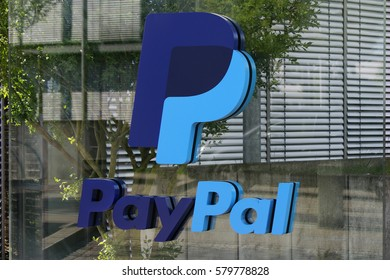"MAY 2016 - BERLIN: the logo of the brand ""Paypal"", Berlin."