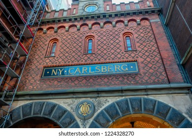 May, 2018- Copenhagen- The most populous city of Denmark, people travel in Ny Carlsberg museum.