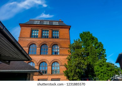 May, 2018- Copenhagen- The most populous city of Denmark, people travel around the Carlsberg Museum.