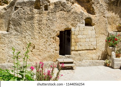 May 2018 The Garden Tomb in Jerusalem Israel which is reckoned by some to be the burial place of Jesus Christ and the scene of his glorious resurrection