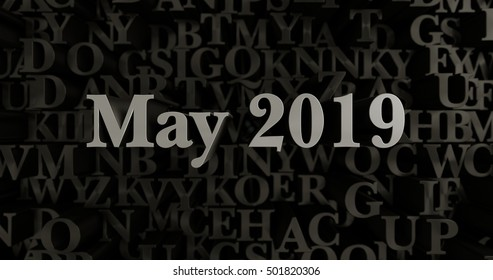 May 2019 - 3D rendered metallic typeset headline illustration.  Can be used for an online banner ad or a print postcard.