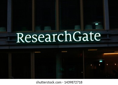 "MAY 2019 - BERLIN: the logo of the brand ""Research Gate""."