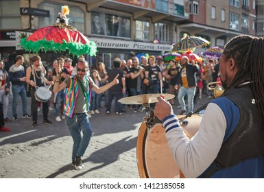 MAY 2019 - BURRIANA, SPAIN - Celebration of Mardi Gras in Burriana, Castellon new style orleans