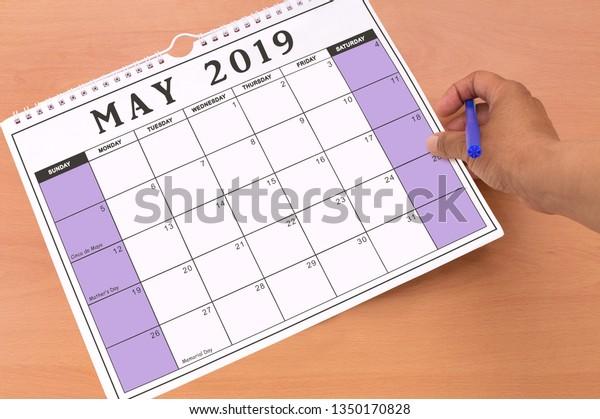May 2019 Calendar Cinco De Mayo Stock Photo Edit Now 1350170828
