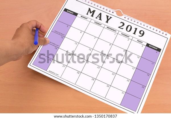 May 2019 Calendar Cinco De Mayo Stock Photo Edit Now 1350170837