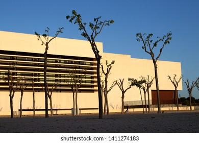 MAY 2019 - CASTELLON, SPAIN - Auditorium and Palace of Congresses of Castellon.