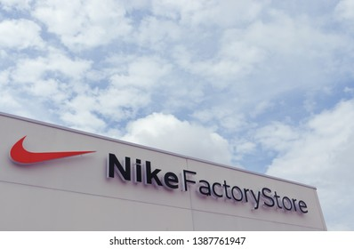 MAY 2019 - CASTELLON, SPAIN: Nike Factory Store