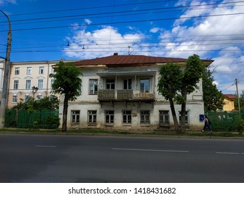 may 2019 Kostroma Russia Tradition russian village wood carved windows and wooden old house russian street and roads
