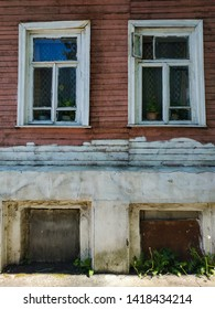 may 2019 Kostroma Russia Tradition russian village wood carved windows and wooden old house black salt