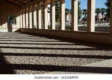 MAY 2019 - VALENCIA, SPAIN - Valencia Central Park building