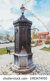May 2021.Shevlyaginskaya water column is a unique monument to the historical Kolomna water supply system, built at the beginning of the 20th century. Copy in Kolomna town.Russia.