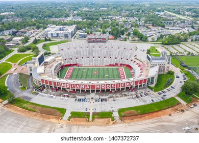 May 22, 2019 - Bloomington, Indiana, USA: Aerial Views of Memorial Stadium, also known as The Rock, is a stadium in Bloomington, Indiana.