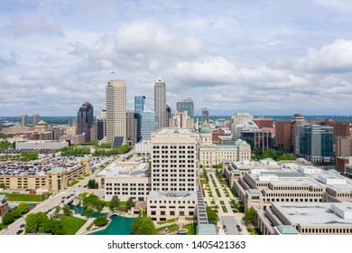 May 22, 2019 - Indianapolis, Indiana, USA: The city of Indianapolis, Indiana on a  beautiful summers day.default
