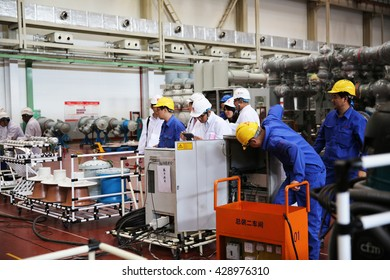 MAY 23, 2016 : XIAN - CHINA : Under factory acceptance testing of Gas Insulated switch-gear for Extra high voltage electrical power. ( GIS )