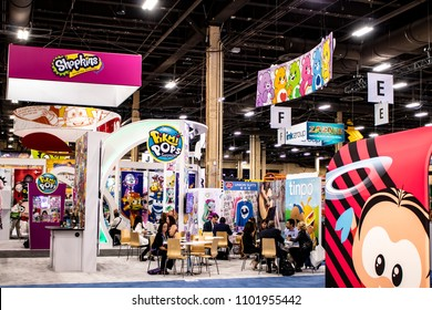 May 23, 2018, LAS VEGAS, NEVADA, USA, Attendees Take Meetings at the Various Booths of World-Renowned Licenses at Licensing Expo 2018